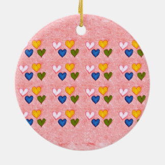 Live hearts christmas ornament