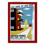 Live Here at Low Rent Greeting Cards