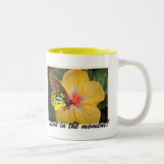 Live in the Moment Butterfly on Flower Designs Mug