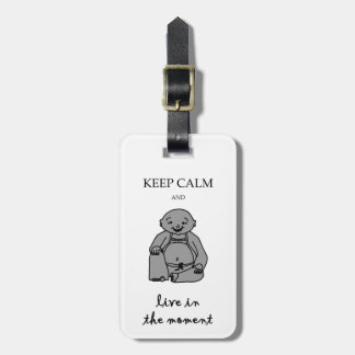 Live in the moment luggage tag