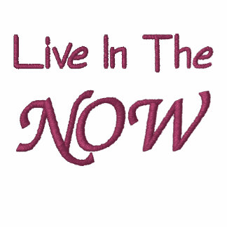 Live In The Now Inspirational Embroidered Hoodie
