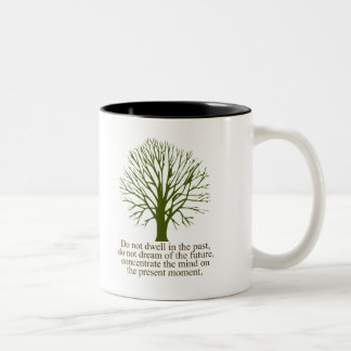 Live in the Present Moment Two-Tone Coffee Mug