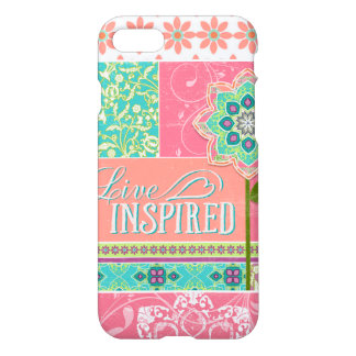 Live Inspired BOHO Chic Bohemian Modern Floral Art iPhone 8/7 Case