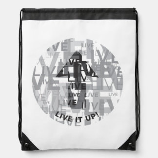 'Live It Up' Drawstring Backpack