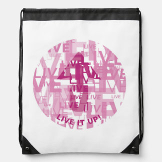'Live It Up' Drawstring Backpack