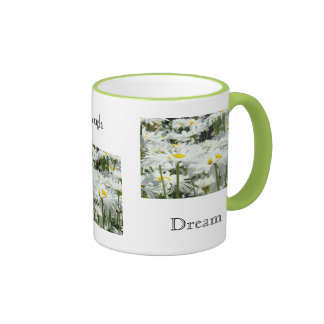 Live Laugh Dream Coffee Mug Gifts Daisies Flowers