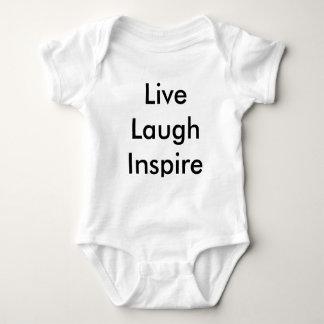 Live Laugh Inspire Baby Grow Baby Bodysuit