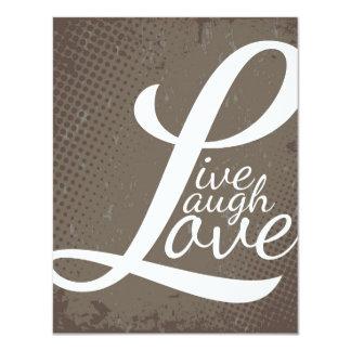 LIVE LAUGH LOVE 11 CM X 14 CM INVITATION CARD