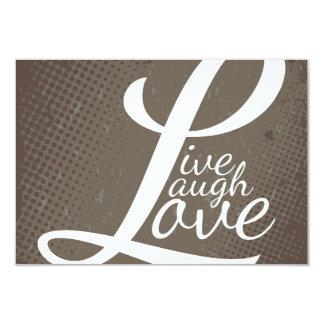 LIVE LAUGH LOVE 9 CM X 13 CM INVITATION CARD