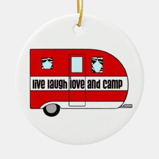 Live, Laugh, Love and Camp Christmas Ornament
