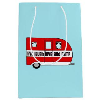 Live, Laugh, Love and Camp Medium Gift Bag