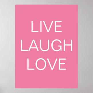 live - laugh - love  art print