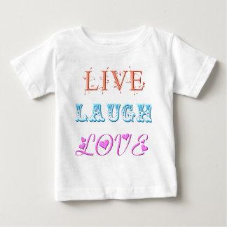 Live, Laugh, Love Baby T-Shirt