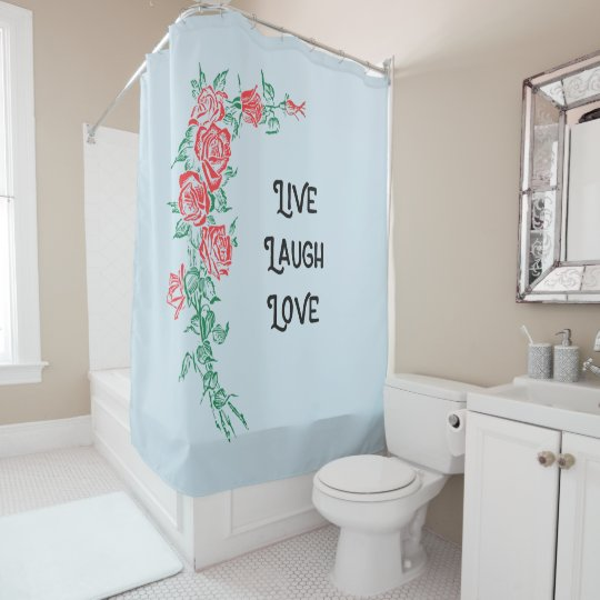 Live Laugh Love Bathroom Shower Curtain