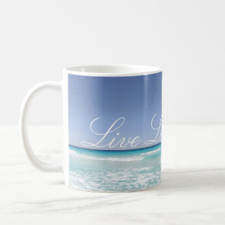 Live Laugh Love Beach Ocean Waves Mug