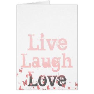 Live Laugh Love Butterflies Card