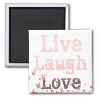 Live Laugh Love Butterflies Magnet