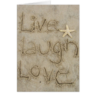 live laugh love greeting card