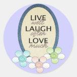 Live Laugh Love Classic Round Sticker