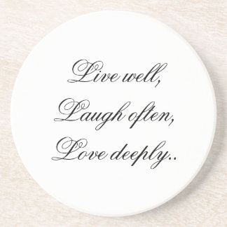 Live Laugh Love Coaster