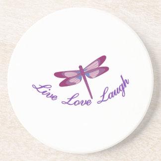 Live, Laugh, Love Coasters