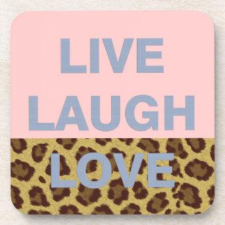 Live Laugh Love Beverage Coasters