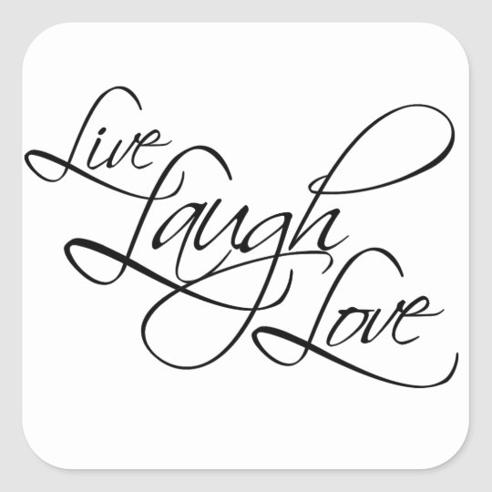 Live Laugh Love Customise Product Square Sticker
