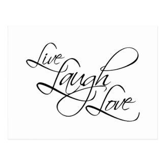 Live Laugh Love Customize Product Post Cards