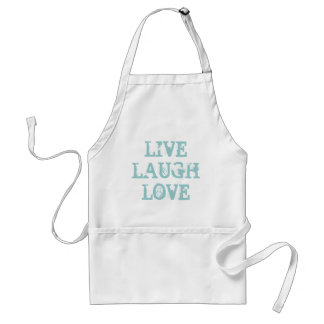 Live laugh love | Cute baking apron for women