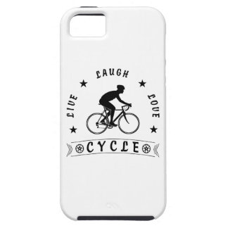 Live Laugh Love Cycle (blk text) iPhone 5 Cases