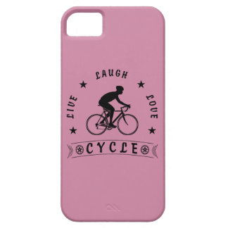Live Laugh Love Cycle (blk text) iPhone 5 Cover