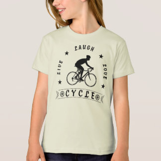 Live Laugh Love Cycle (blk text) T-Shirt