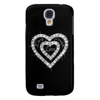 Live Laugh Love Diamond Heart HTC Vivid Phone Case