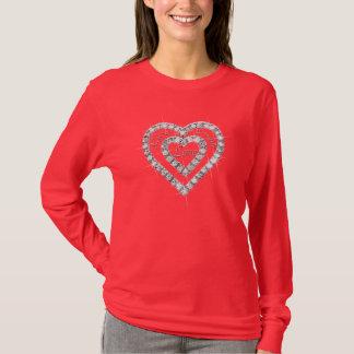 Live Laugh Love Diamond Heart Shirt