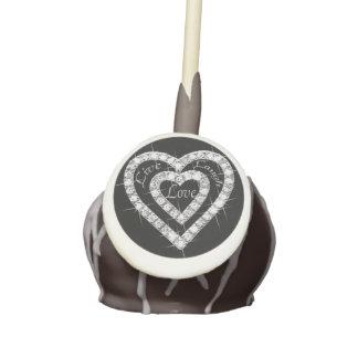 Live Laugh Love Diamond Hearts Cake Pops