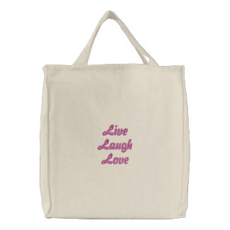 Live Laugh Love Embroidered Bag