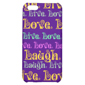 Live Laugh Love Encouraging Words Purple Girly iPhone 5C Cases