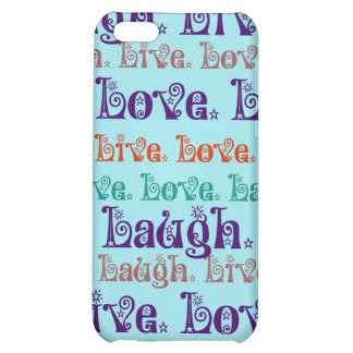 Live Laugh Love Encouraging Words Teal Blue iPhone 5C Cover