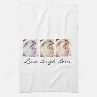 live,laugh,love floral tea towel