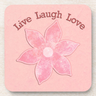 Live Laugh Love Flower Drink Coasters