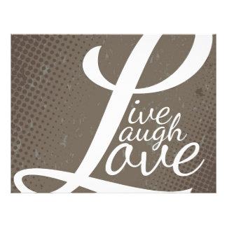 LIVE LAUGH LOVE 21.5 CM X 28 CM FLYER
