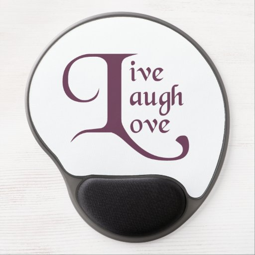 Live, Laugh, Love Gel Mouse Mats
