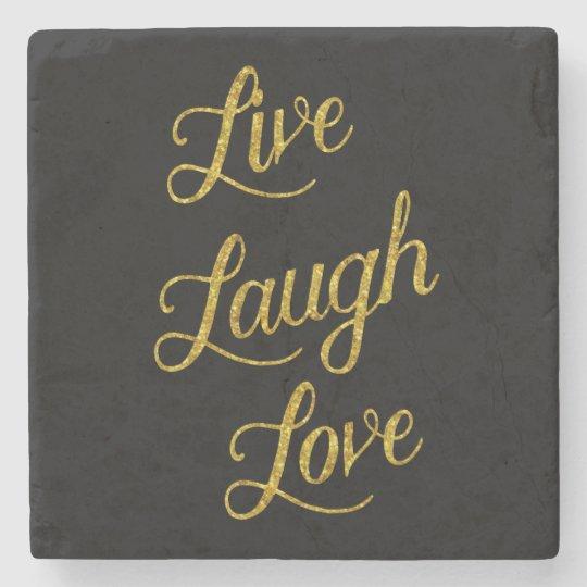 Live Laugh Love Gold Faux Glitter Metallic Sequins