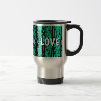 live laugh love green stainless steel travel mug