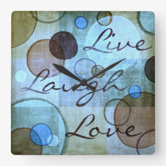Live Laugh Love grungy wall clock