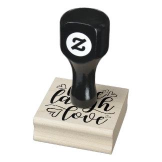 Live Laugh Love Heart Doodle Rubber Stamp