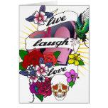 Live Laugh Love Heart Tattoo Design