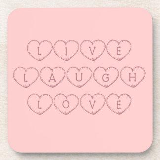 Live Laugh Love Hearts Coasters