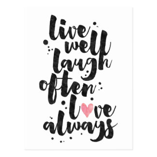 Live Laugh Love - Inspirational Card