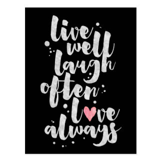 Live Laugh Love - Inspirational Card Postcard